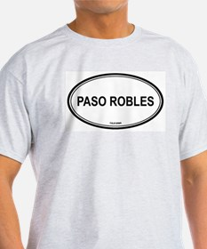 Paso Robles oval Ash Grey T-Shirt