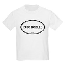 Paso Robles oval Kids T-Shirt