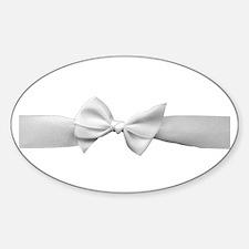 White Ribbon bow Decal