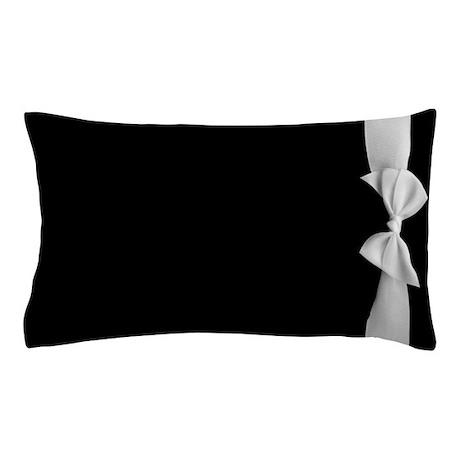 White Ribbon bow Pillow Case