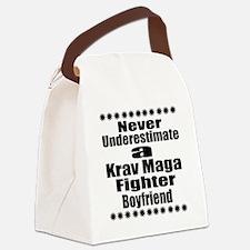 Never Underestimate Krav Maga Fig Canvas Lunch Bag