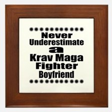 Never Underestimate Krav Maga Fighter Framed Tile