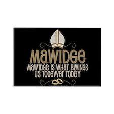 Princess Bride Mawidge Wedding Rectangle Magnet