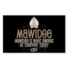 Princess Bride Mawidge Wedding Decal