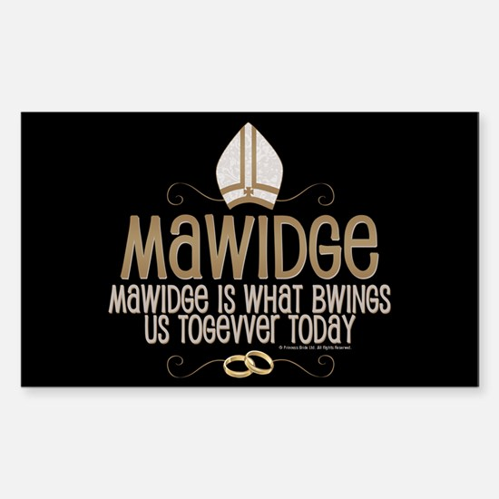 Princess Bride Mawidge Wedding Sticker (Rectangle)