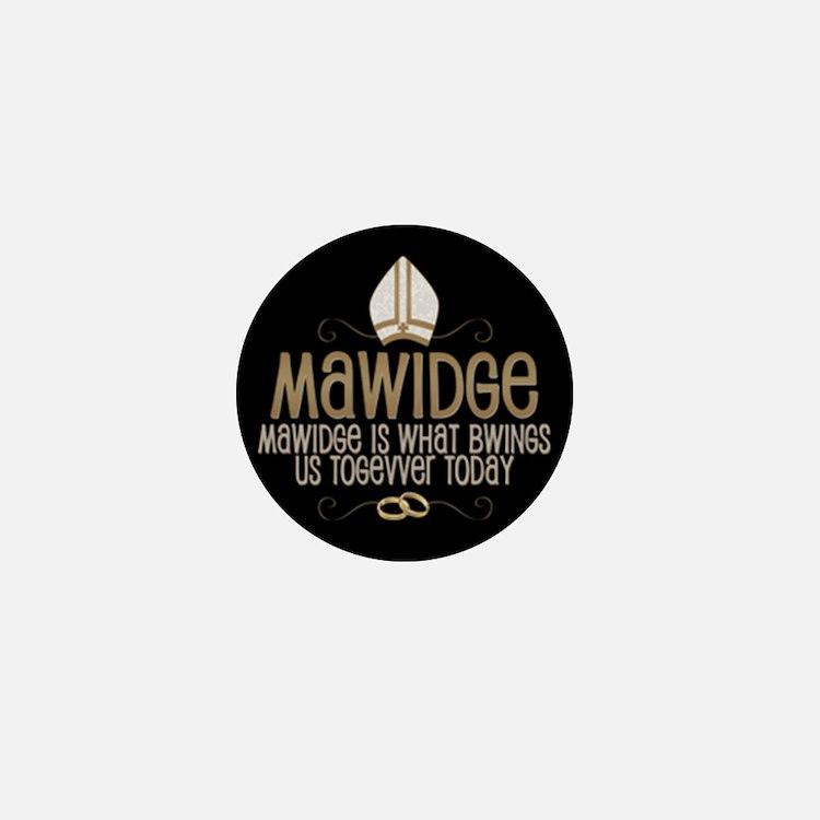Princess Bride Mawidge Wedding Mini Button