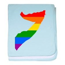 Rainbow Pride Flag Somalia Map baby blanket