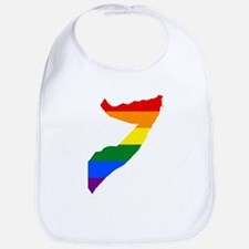 Rainbow Pride Flag Somalia Map Bib