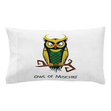 Owl of Mischief Pillow Case
