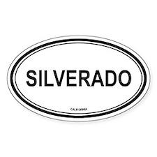 Silverado oval Oval Decal