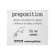 Maternity Preposition Throw Blanket
