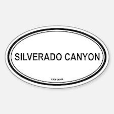 Silverado Canyon oval Oval Decal