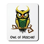 Owl of Mischief Mousepad
