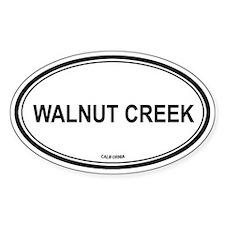 Walnut Creek oval Oval Decal