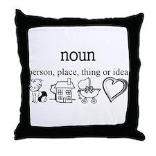 Maternity Noun Throw Pillow