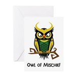 Owl of Mischief Greeting Card