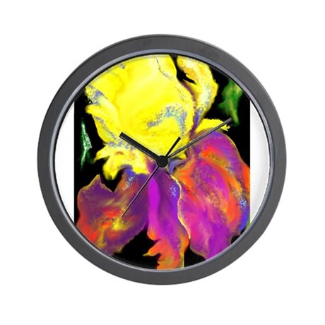 Hot Iris Wall Clock