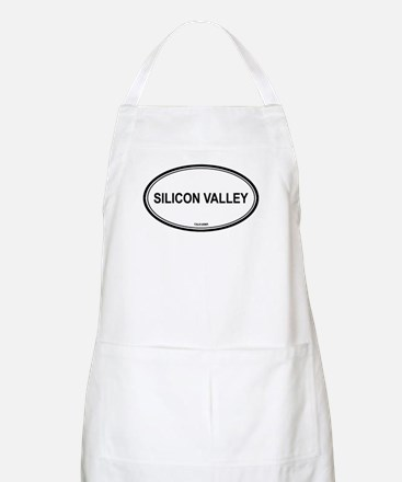 Silicon Valley oval BBQ Apron