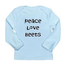 Peace Love Beets Long Sleeve Infant T-Shirt