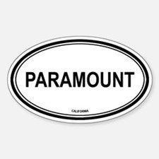Paramount oval Oval Decal