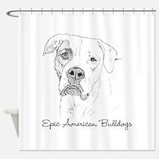 Epic American Bulldogs Shower Curtain