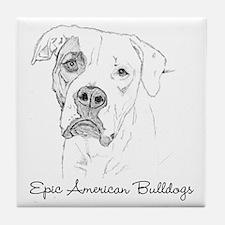Epic American Bulldogs Tile Coaster