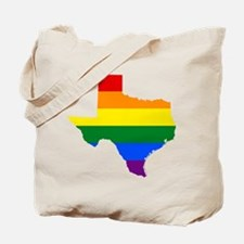 Rainbow Pride Flag Texas Map Tote Bag