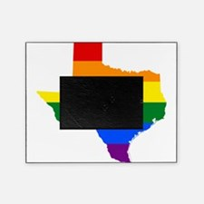 Rainbow Pride Flag Texas Map Picture Frame