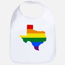 Rainbow Pride Flag Texas Map Bib