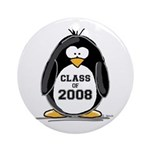 Class of 2008 Penguin Ornament (Round)