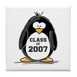 Class of 2007 Penguin Tile Coaster