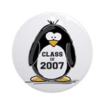Class of 2007 Penguin Ornament (Round)
