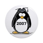 2007 Graduate Penguin Ornament (Round)