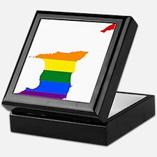 Rainbow Pride Flag Trinidad And Tobago Map Keepsak