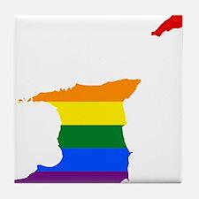 Rainbow Pride Flag Trinidad And Tobago Map Tile Co