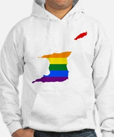 Rainbow Pride Flag Trinidad And Tobago Map Hoodie