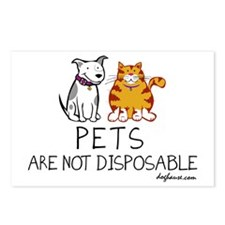 Non-Disposable Pets Postcards (Package of 8)