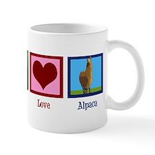 Peace Love Alpacas Mug