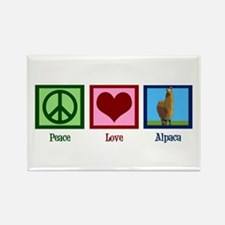 Peace Love Alpacas Rectangle Magnet