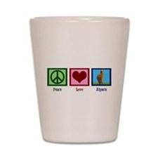 Peace Love Alpacas Shot Glass