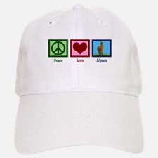 Peace Love Alpacas Baseball Baseball Cap