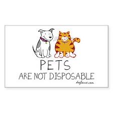 Non-Disposable Pets Rectangle Decal