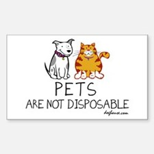 Non-Disposable Pets Rectangle Decal