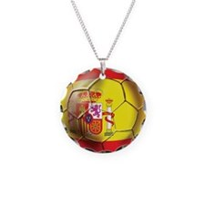 Spanish Futbol Necklace Circle Charm