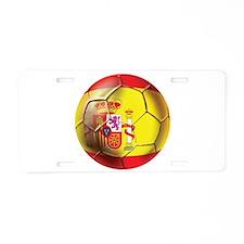 Spanish Futbol Aluminum License Plate