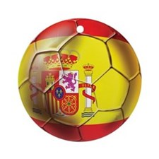 Spanish Futbol Ornament (Round)
