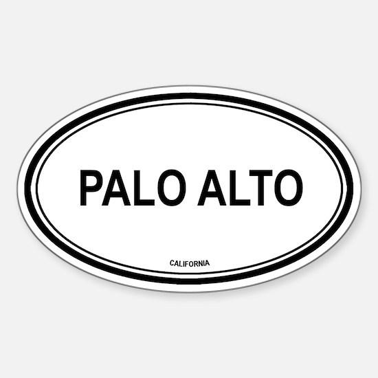 Palo Alto oval Oval Decal