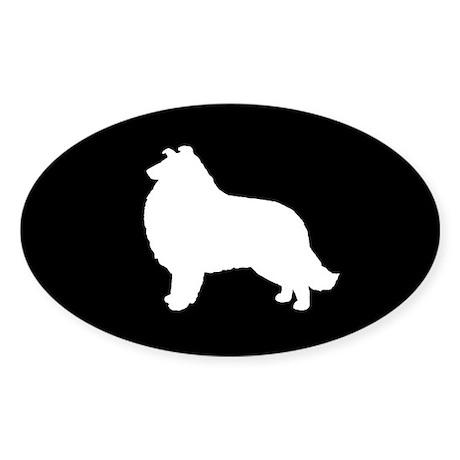 Collie Sticker (Oval)