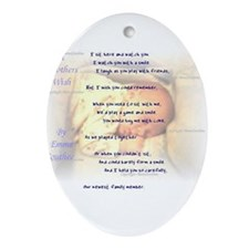 A Mothers Wish Oval Ornament