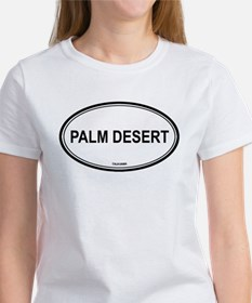 Palm Desert oval Women's T-Shirt